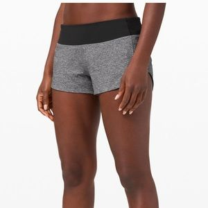 "Lululemon Speed Up Short 2.5"" Heather Grey/Black"